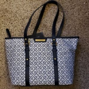 Tommy Hilfiger Shopper Tote Bag Jacquard Handbag